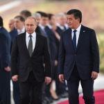 Кыргызстандын президенти Сооронбай Жээнбеков Россия лидери Владимир Путин менен