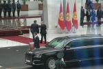 Кыргызстан менен Россиянын президенттери Ала-Арча мамлекеттик резиденциясында жолукту.