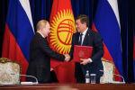 Церемония подписания документов по итогом переговоров в узком составе Сооронбая Жээнбекова и Владимира Путина в Бишкеке.