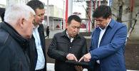 Премьер-министр Мухаммедкалый Абылгазиев ознакомился с работой солнечных коллекторов в котельных Орто-Сай и Ротор коммунального предприятия Бишкектеплоэнерго