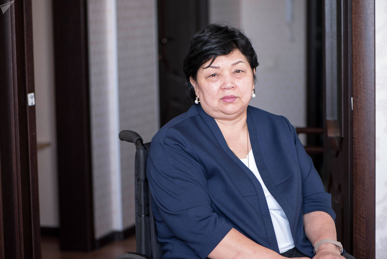 Руководитель общественного объединения Иссык-Кульской области Равенство Гульмира Казакунова