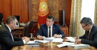 Президент Кыргызской Республики Сооронбай Жээнбеков принял председателя Государственной ипотечной компании (ГИК) Бактыбека Шамкеева
