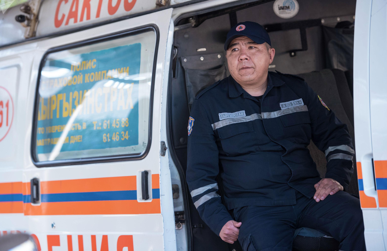 Спасатель МЧС КР Нурбек Аильчинов
