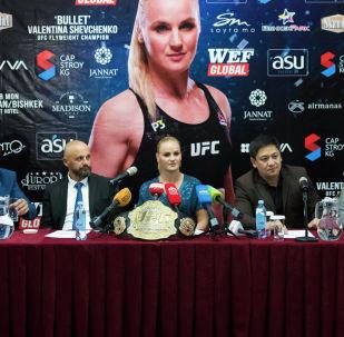 После награждения Шевченко отправилась на пресс-конференцию