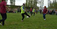 Жалал-Абал облусунун Ноокен районундагы Сакалды айыл аймагында аялдар арасында алгачкы жолу футбол боюнча мелдеш уюштурулду.