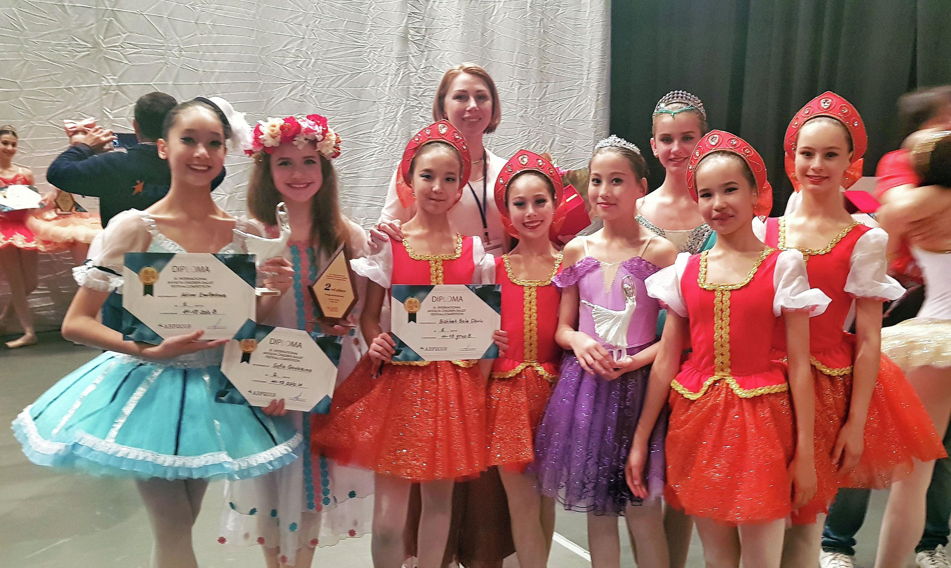 Кыргызстанцы заняли шесть призовых мест на III Международном детском балетном фестивале-конкурсе