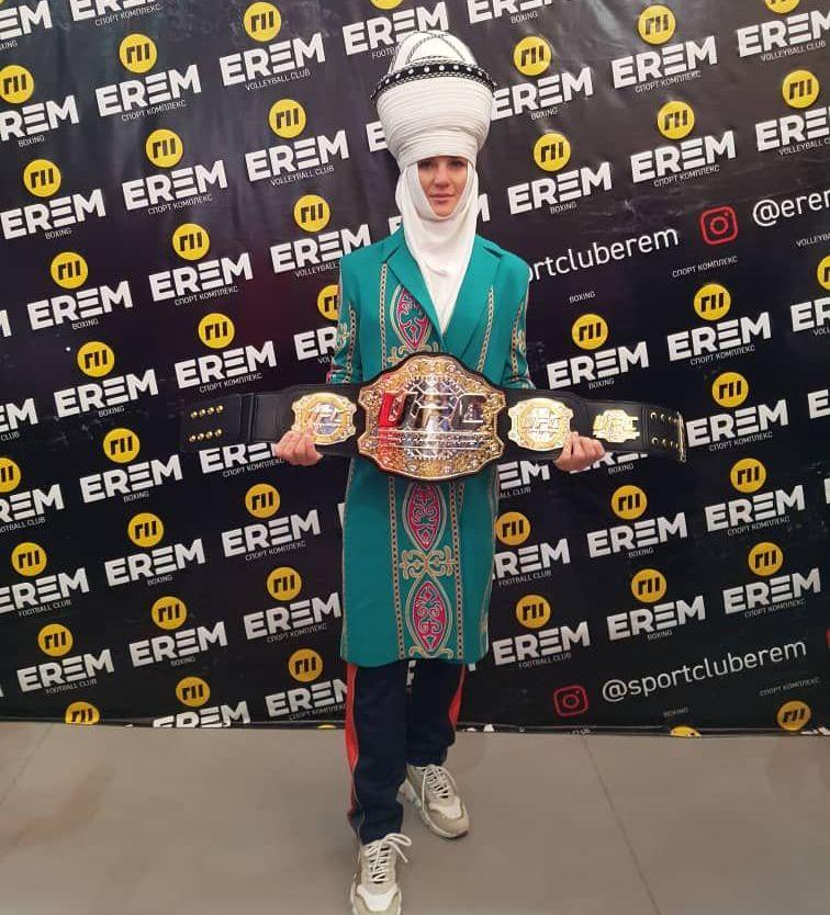 Чемпионка UFC Валентина Шевченко в Оше