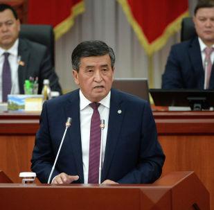 Президент Кыргызской Республики Сооронбай Жээнбеков выступил на заседании Жогорку Кенеша КР