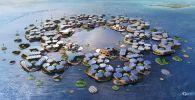 Архитектор из Дании Бьярке Ингел создал концепцию плавучего города, который может спасти людей от повышения уровня моря, вызванного глобальным потеплением.