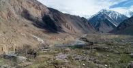 Вид на село Зардалы Баткенской области. Архивное фото