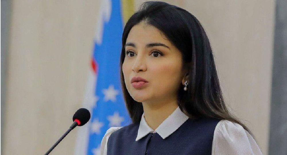 Өзбекстандын президенти Шавкат Мирзиёевдин улуу кызы Саида. Архивдик сүрөт