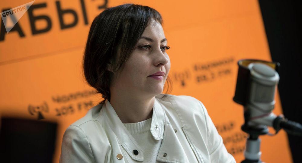 Представитель инициативной группы Совет общественной безопасности (СОБ) Валерия Садыгалиева во время беседы на радио Sputnik Кыргызстан