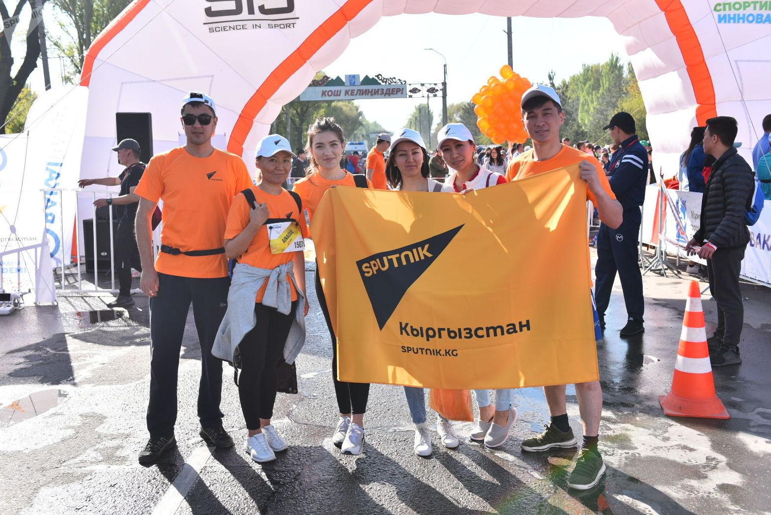Информационное агентство и радио Sputnik Кыргызстан является международным медиапартнером марафона