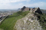 Вид на гору Сулайман-Тоо в центре города Ош