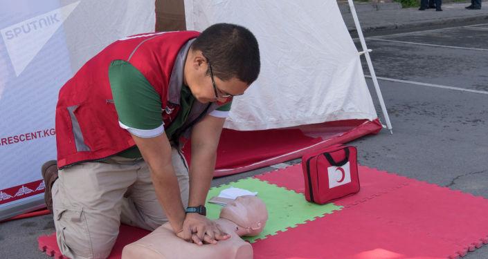 Дети на акция Безопасность детей — безопасность будущего, организованной в целях профилактики дорожного травматизма