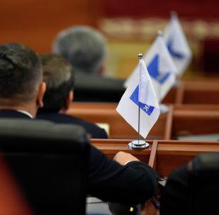 Депутаты фракции СДПК на заседании Жогорку Кенеша. Архивное фото
