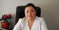 Ош облустар аралык бириккен клиникалык ооруканасынын төрөт стационарынын башкы дарыгери Гүлбара Кенжебаева. Архив