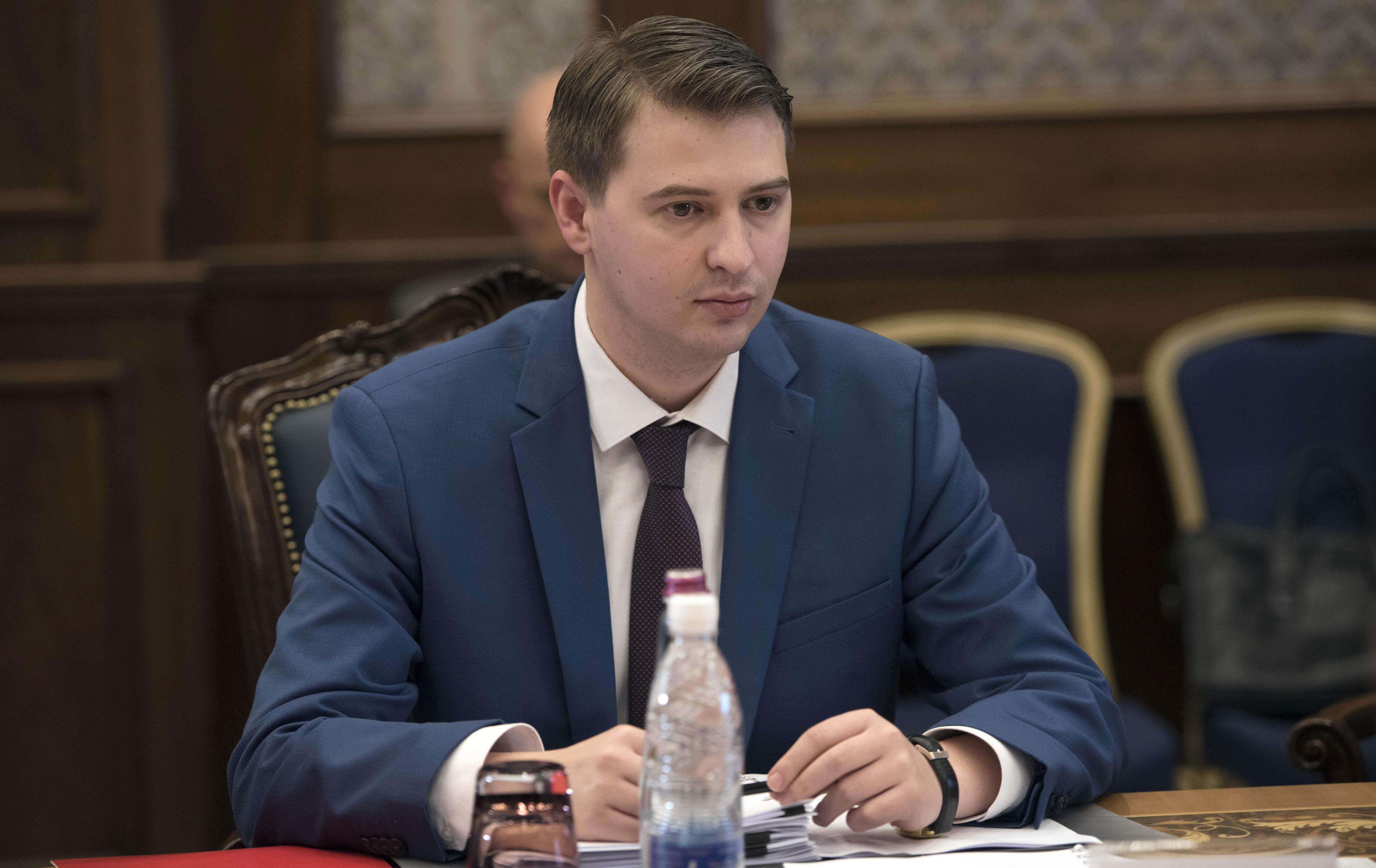 Министр экономики Артем Новиков на заседании Совета Российско-Кыргызского фонда развития.