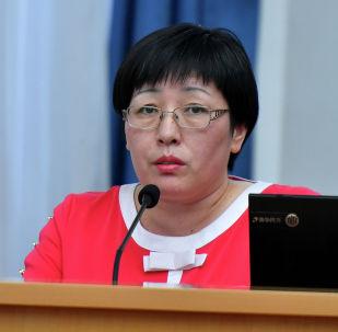 Глава Государственной регистрационной службы (ГРС) Алина Шаикова. Архивное фото