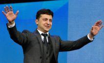 Кандидат в президенты от партии Слуга народа Владимир Зеленский