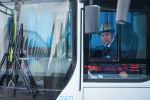 Водитель автобуса в Бишкеке. Архивное фото