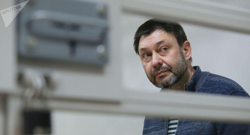 Руководитель портала РИА Новости Украина Кирилл Вышинский в Херсонском апелляционном суде. Архивное фото