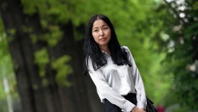 Победительница конкурса на лучший туристический слоган Кыргызстана, студентка КНУ Ажар Сатыбалдиева