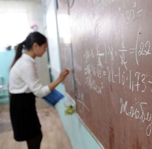 Школьница средней школы в селе Орок Сокулукского района. 23 апреля 2019 года