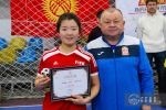 Кыргызстандык футболчу Айжан Боронбекова. Архивдик сүрөт
