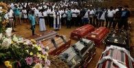 Похороны погибших при серии взрывов на Шри-Ланке. 24 апреля 2019 года