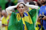 Двукратная победительница Олимпийских игр волейболистка Жаклин Карвальо на летних Олимпийских играх 2016 года в Рио-де-Жанейро. 16 августа 2016 года