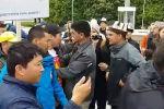 На площади Ала-Тоо в Бишкеке произошла потасовка между участниками митинга против добычи урана в Кыргызстане.