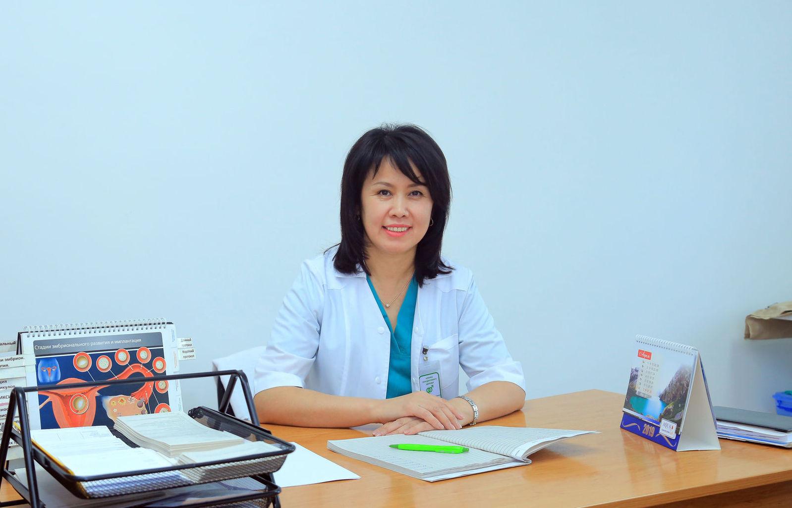 Акушер-гинеколог-эндокринолог Клиники репродуктивного здоровья и вспомогательных репродуктивных технологий Насипа Гапарова