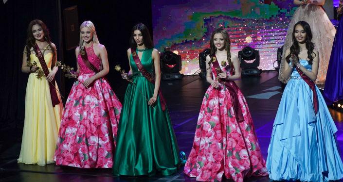 Участницы национального конкурса Мисс Казахстан в Нур-Султане
