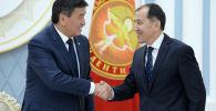 Президент Кыргызской Республики Сооронбай Жээнбеков встретился с судьями Конституционной палаты Верховного суда Кыргызской Республики. 4 мая 2019 года