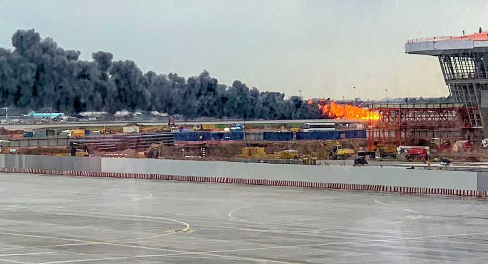 Пожар самолета Superjet-100 летевшего рейсом Москва — Мурманск в аэропорту Шереметьево под Москвой. 5 мая 2019 года