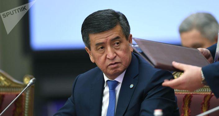 Президент Кыргызстана Сооронбай Жээнбеков. Архив