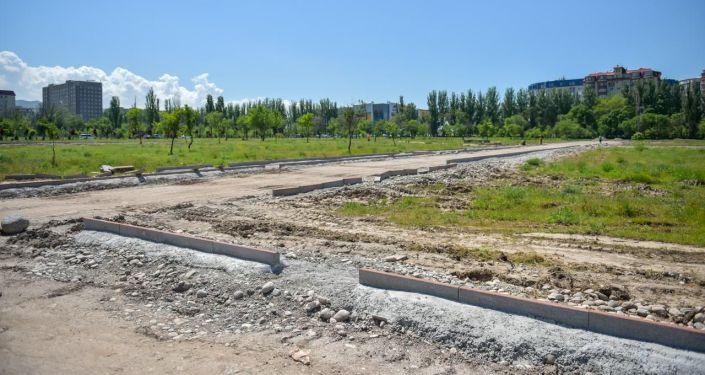 В Бишкеке начато строительство масштабного парка по южной магистрали
