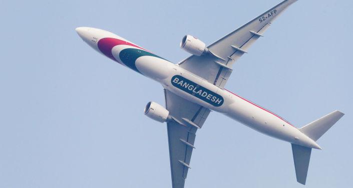 Пассажирский лайнербангладешской авиакомпании Biman