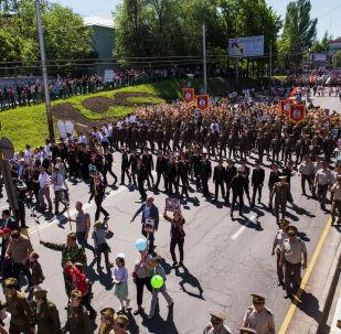 Шествие Бессмертного полка в 2019 году в Бишкеке. Архивное фото
