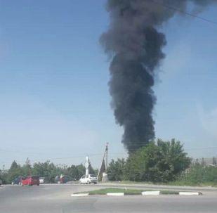 Жалал-Абад шаарынын Шерматов көчөсүндөгү мунай базадан өрт чыкты