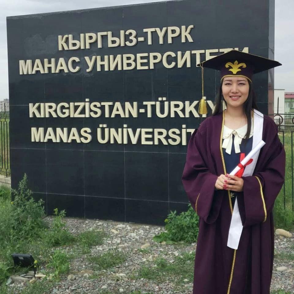 Бишкекчанка Айкан Кожоева, выпускница Кыргызско-Турецкого университета Манас