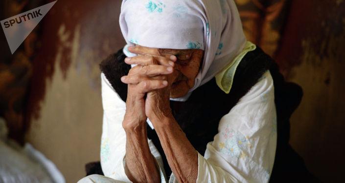 Пожилая женщина. Архивное фото