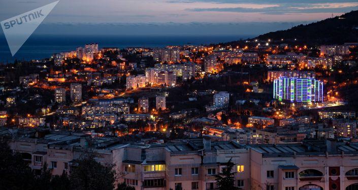 Вид на Ялту в Крыму. Архивное фото