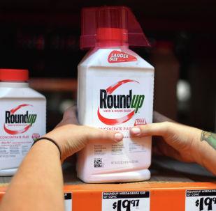 Bayer компаниясынын чыгарган гербицид Roundup. Архивдик сүрөт