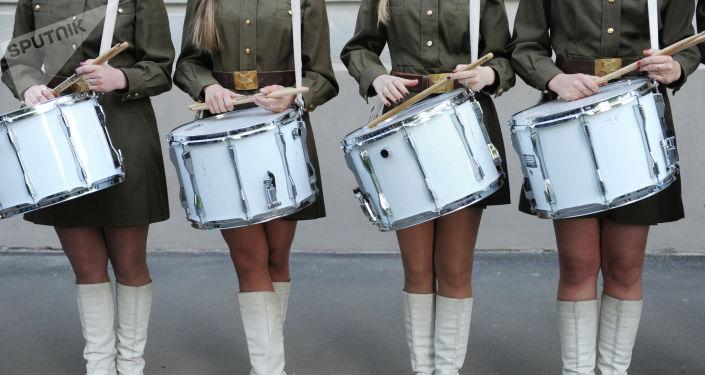 Девушки в военной форме. Архивное фото
