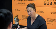 Берекет базарынын президенти Индира Абласованы Sputnik Кыргызстан агенттигинде