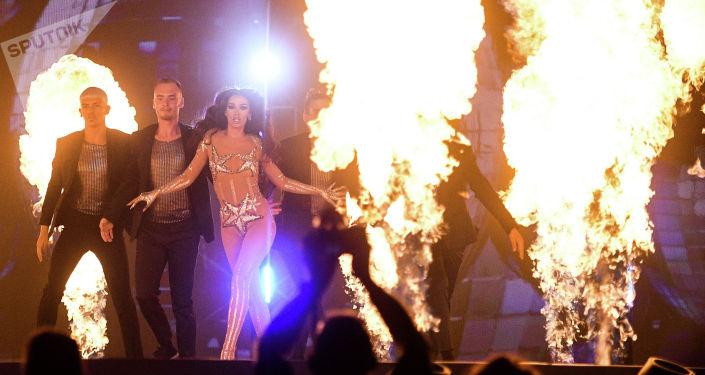 Певица Элени Фурейра во время репетиции финала международного конкурса Евровидение-2019.
