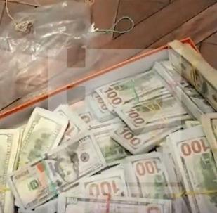 В трех квартирах нашли 12 миллиарда рублей в валюте, они были в 10 пакетах и сумках.