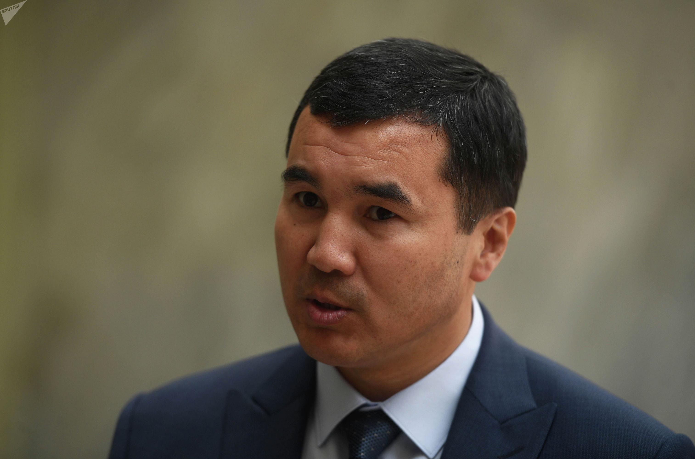 Полномочный представитель правительства по Ошской области Узарбек Жылкыбаев на туристическом форуме Солнечный Кыргызстан - Иссык-Куль 2019 в Москве.